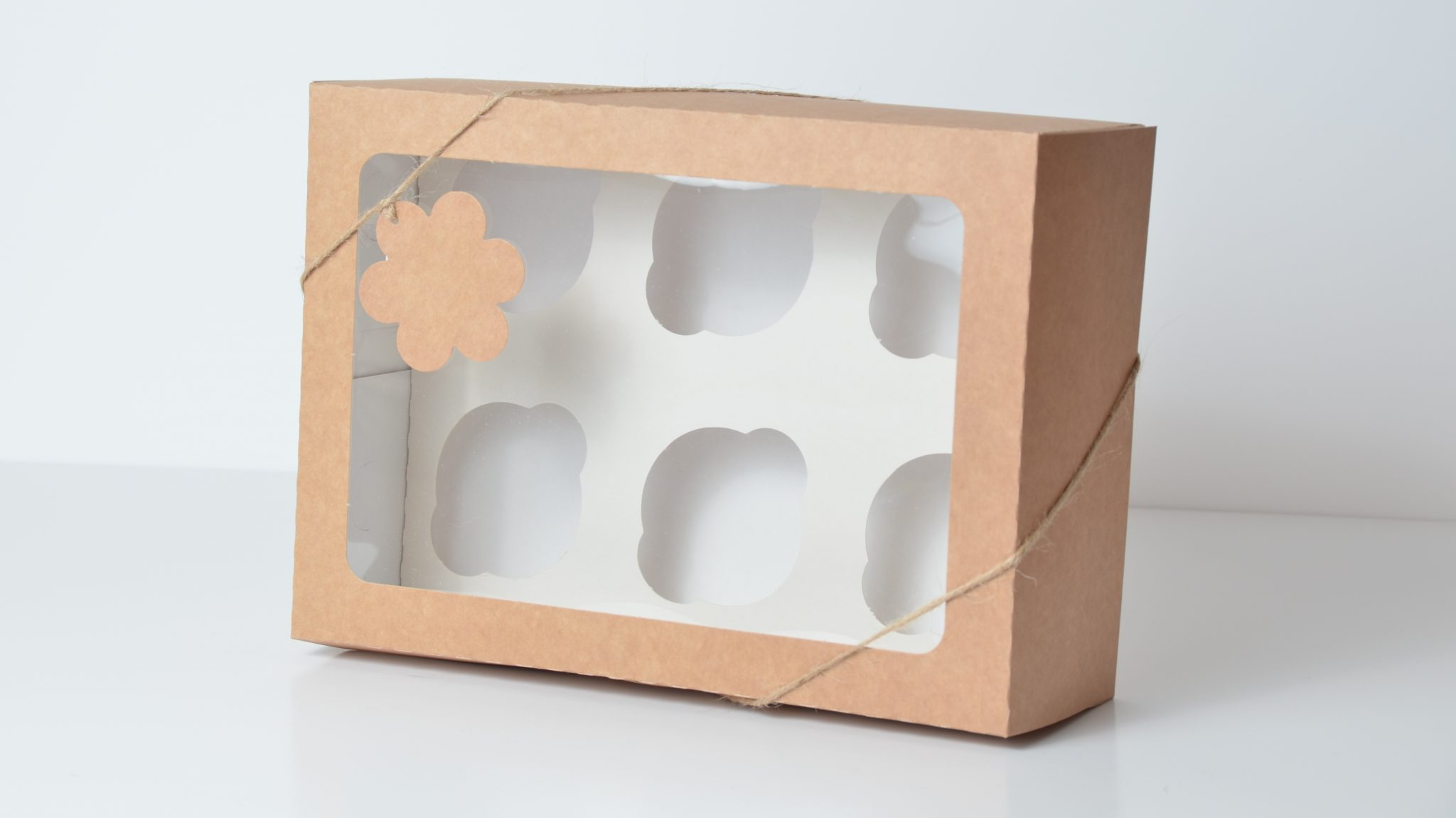 Kraft Deep 6 Pack Cup Cake Box, also has insert available for 16 mini cupcakes