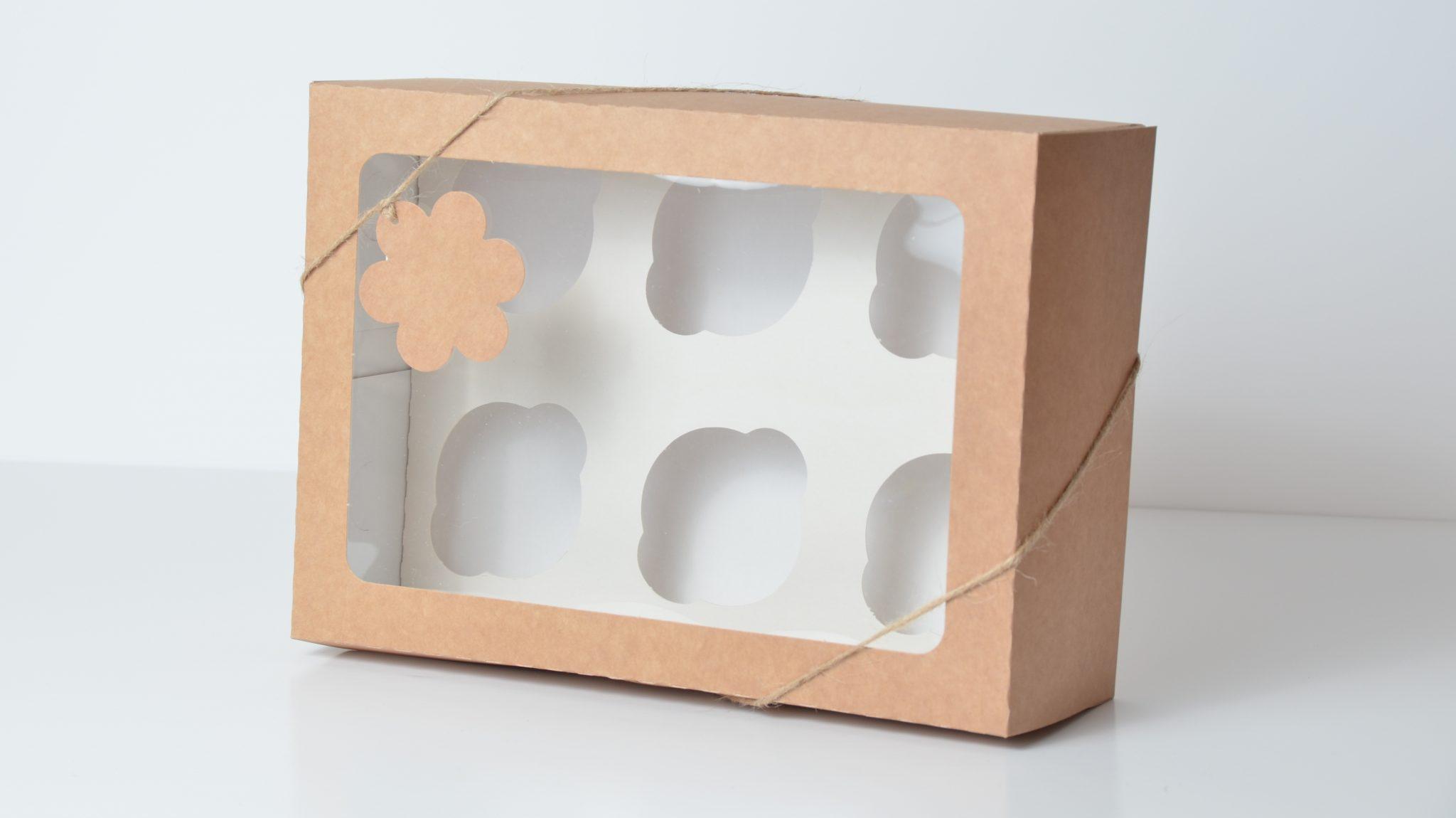 Kraft Deep 6 Pack Cup Cake Box
