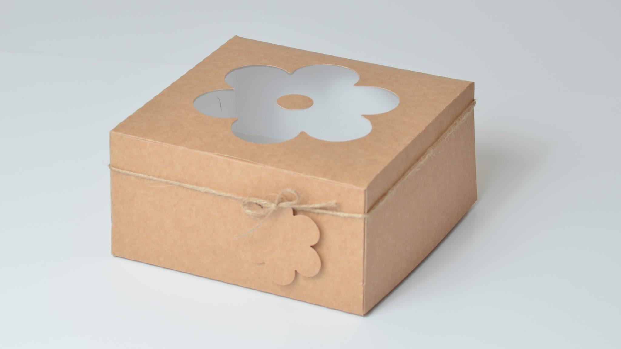 Kraft Deep Daisy 4 Pack Cup Cake Box