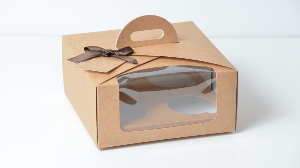 Kraft 4 Pack Eco Dome Cup Cake Box