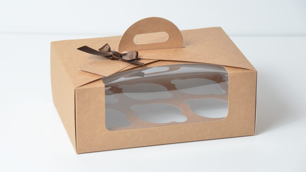 Kraft 6 Pack Eco Dome Cup Cake Box