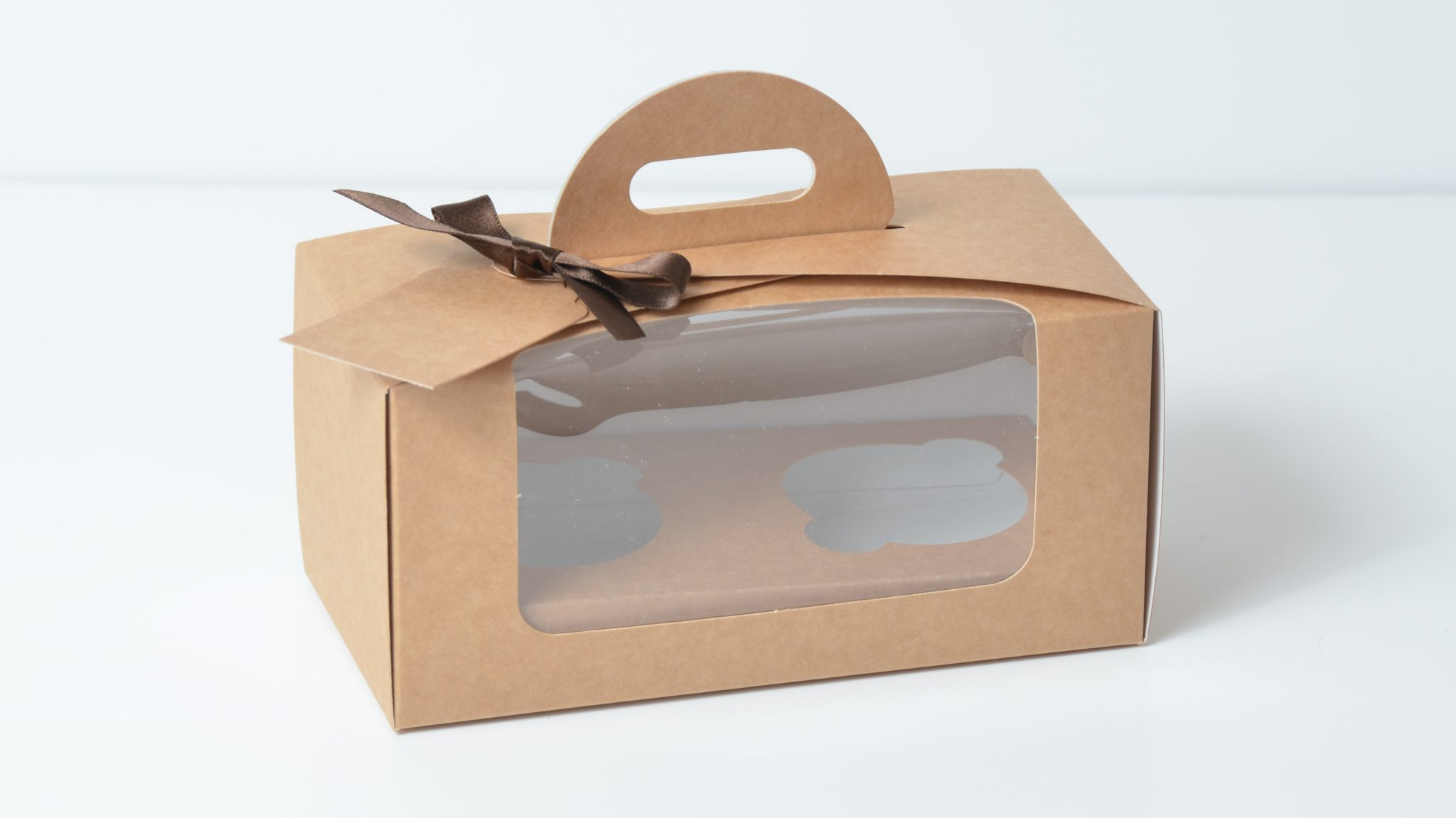 Kraft 2 Pack Eco Dome Cup Cake Box