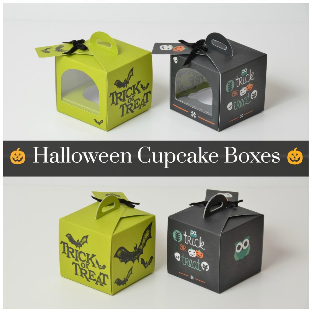 Halloween Green/Black Single Cup Cake Boxes