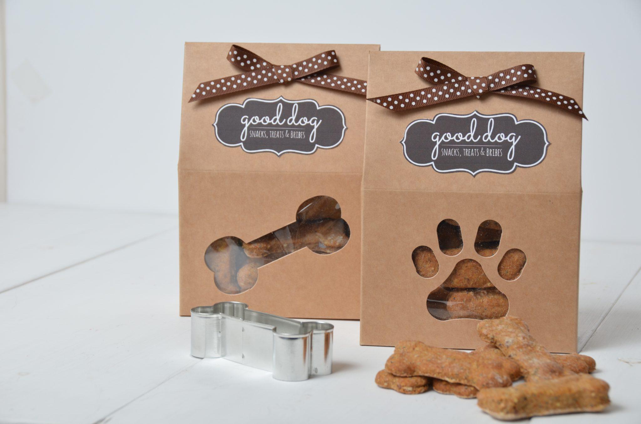 Doggie Treat Boxes in Kraft Board
