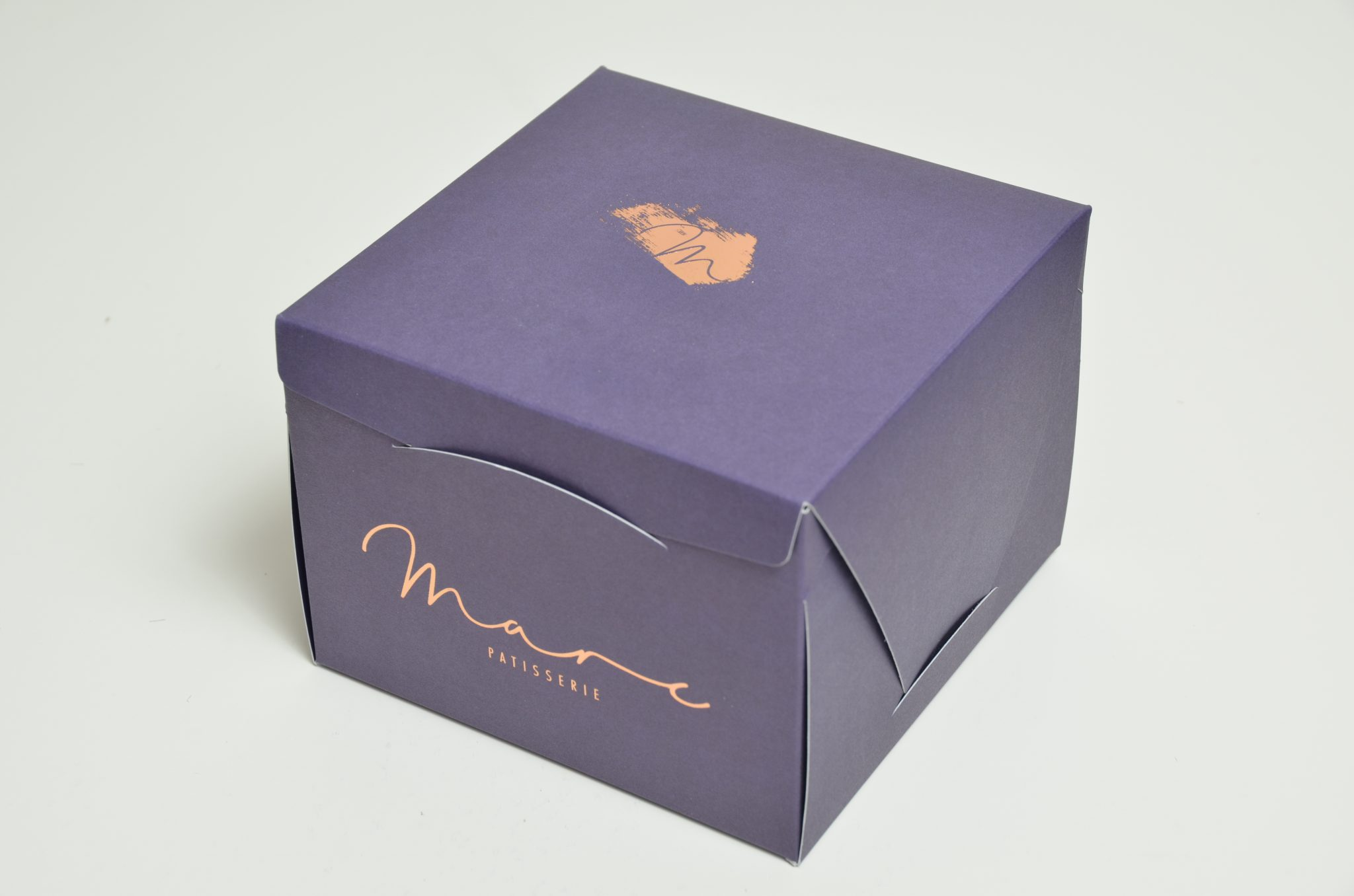 Large Bespoke Printed & Foiled Cake Box