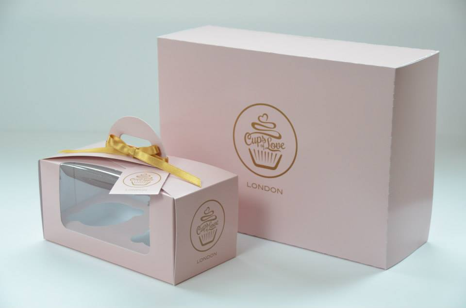 Bespoke Eco Dome 2 Pack Cup Cake Box & 12 Pack