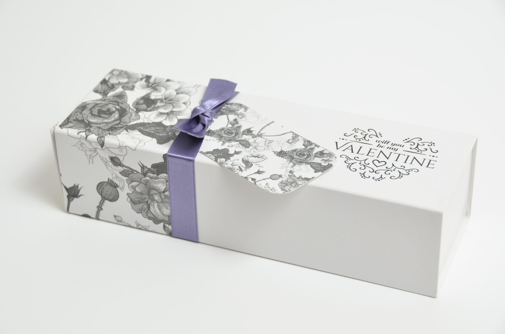 White Valentines Slider Box