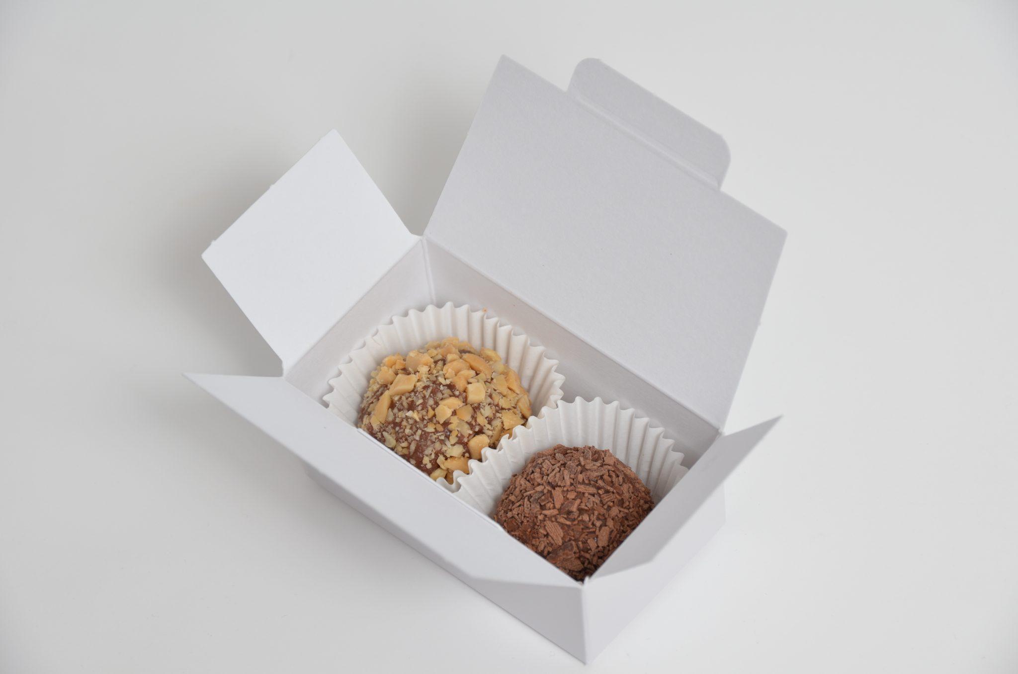 White 2 Pack Truffle Box