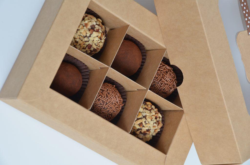 Kraft 6 Pack Truffle Box with insert