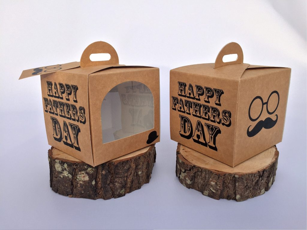 Fathers Day Single Cup Cake Box
