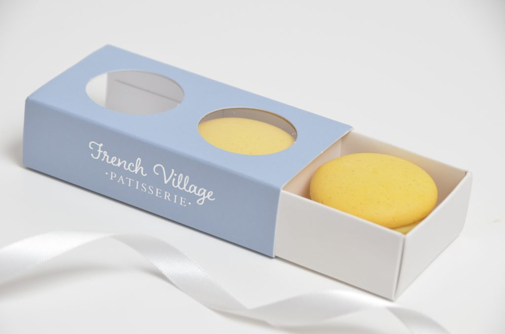 Bespoke Printed 2 Pk Compact Windowed Macaron Box