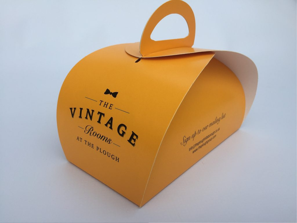 Bespoke Printed Patisserie Box & Tag
