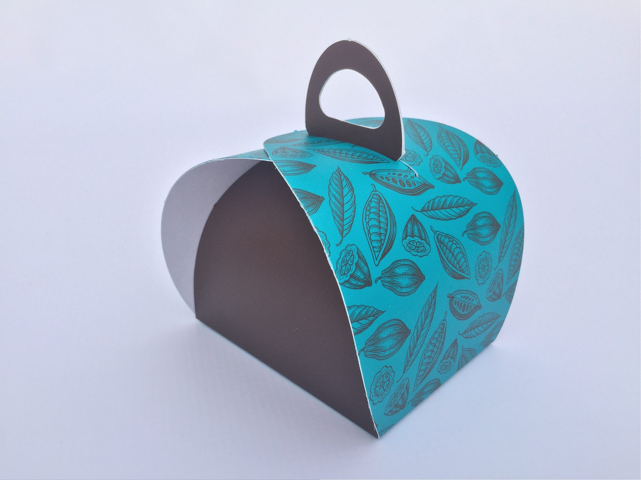 Small Printed Single Patisserie Box & Tag