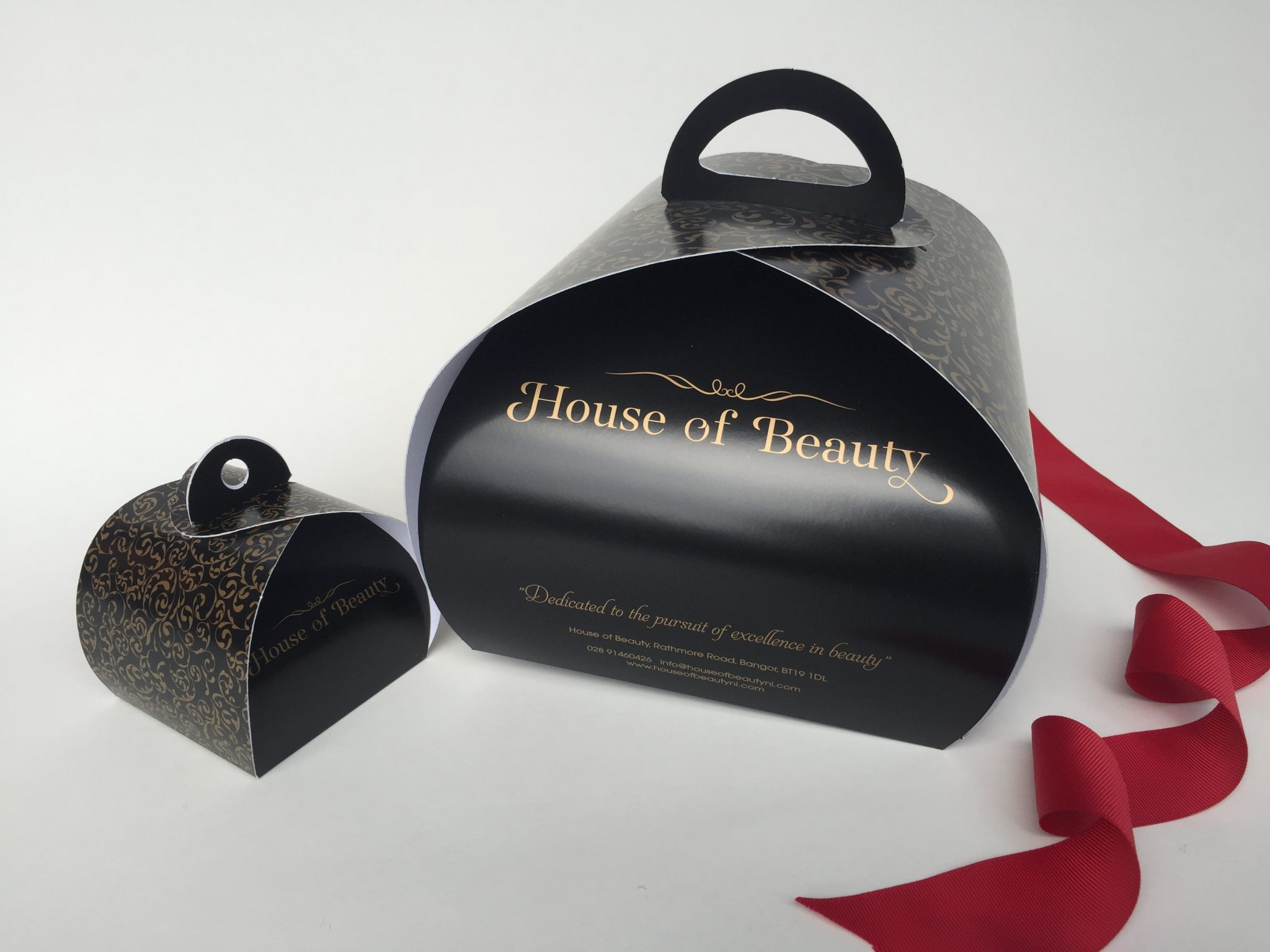Black Bespoke Single & 4 Pk Patisserie Box & Tag