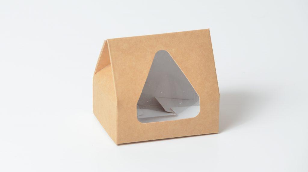 Taper Top Small Fudge Box with Triangular Window