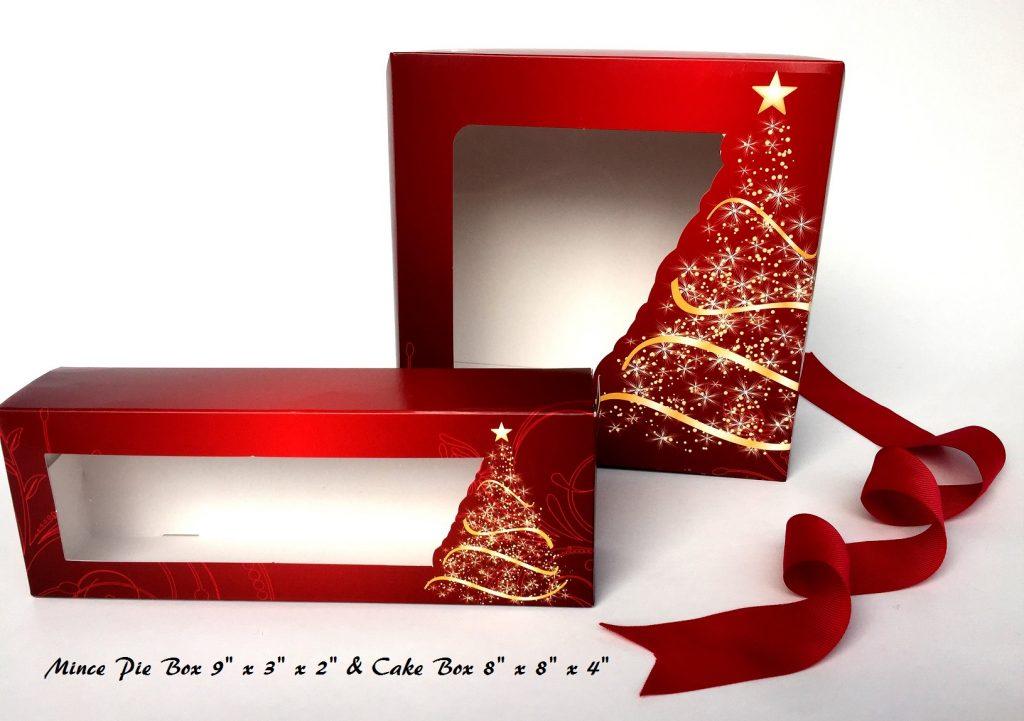 Generic Print Christmas Tree Aperture Cake & Mince Pie Boxes