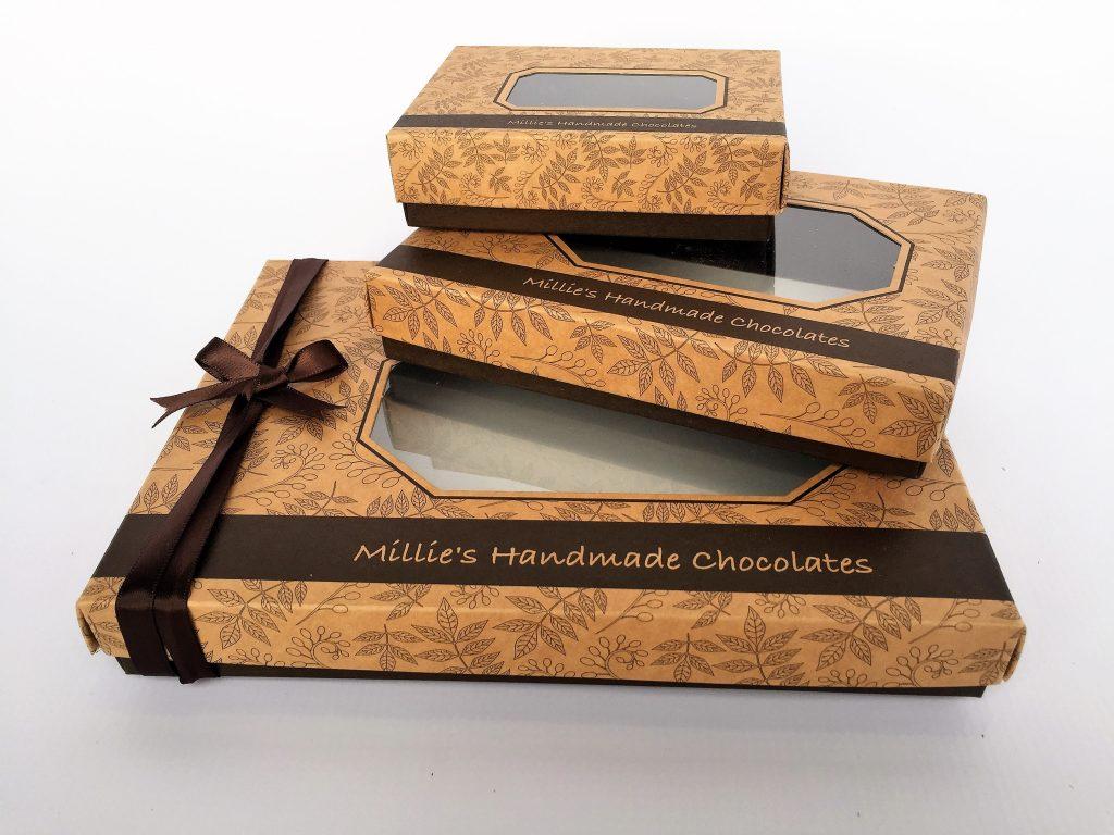 Bespoke Chocolate Base & Lid Boxes