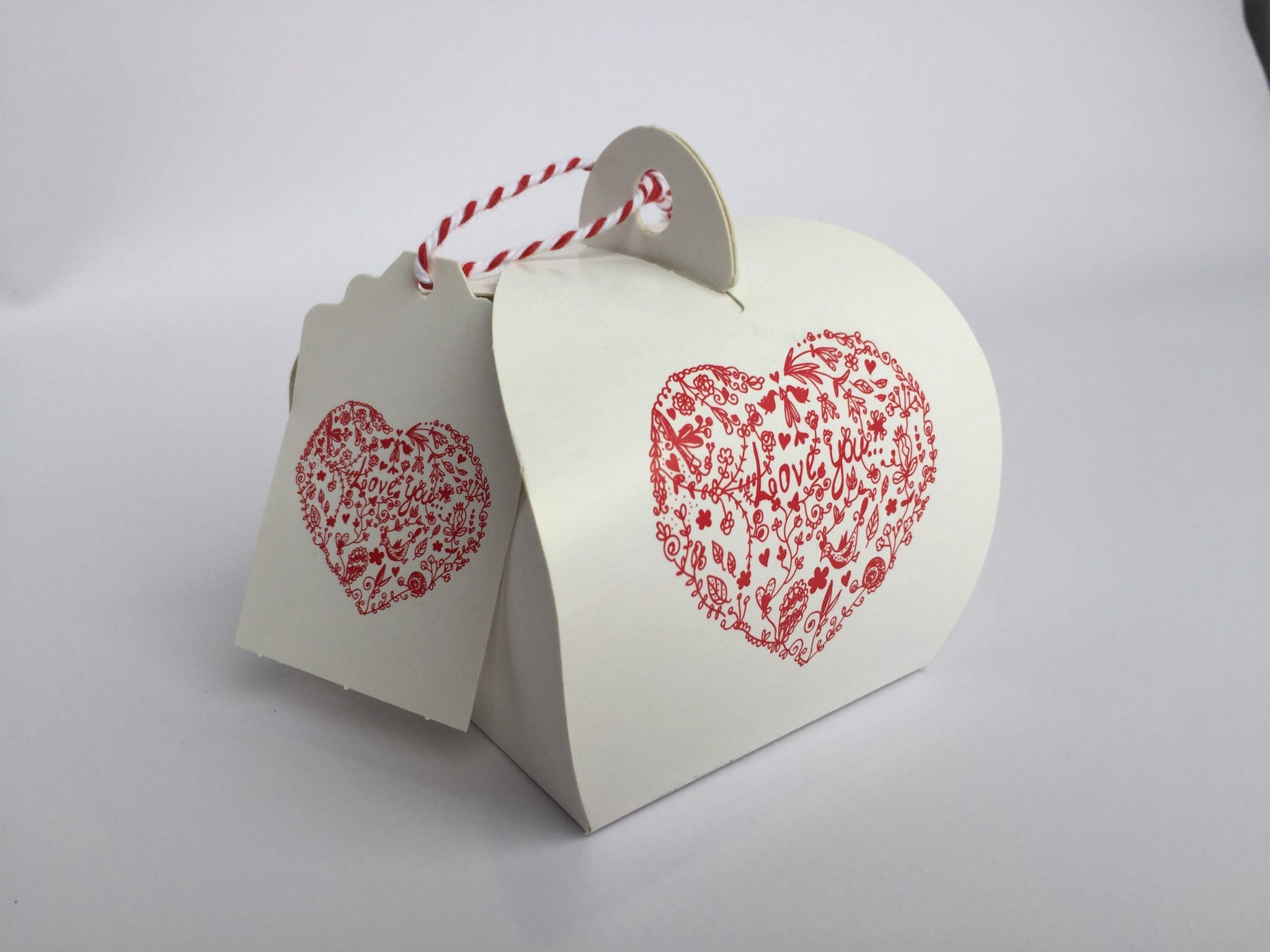 Printed Love Pattern Patisserie Box