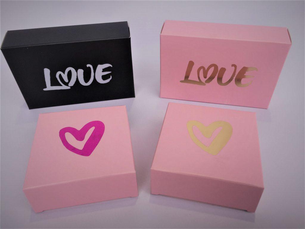 Foiled Love/Heart Truffle Boxes (4 & 6)