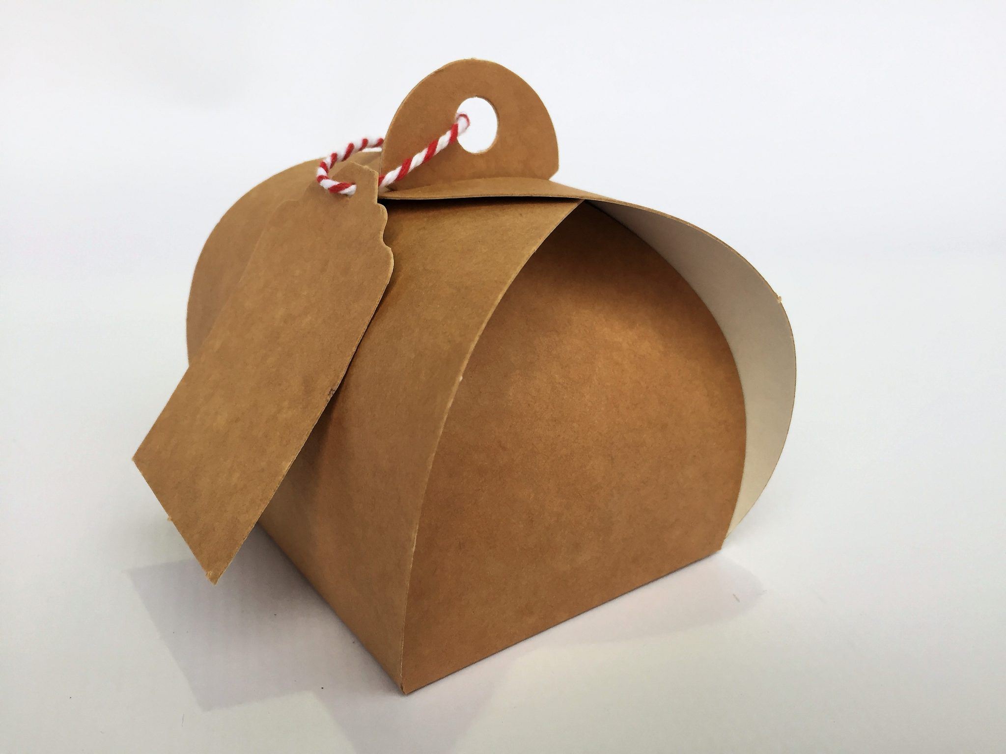Kraft Single Patisserie Box & Tag