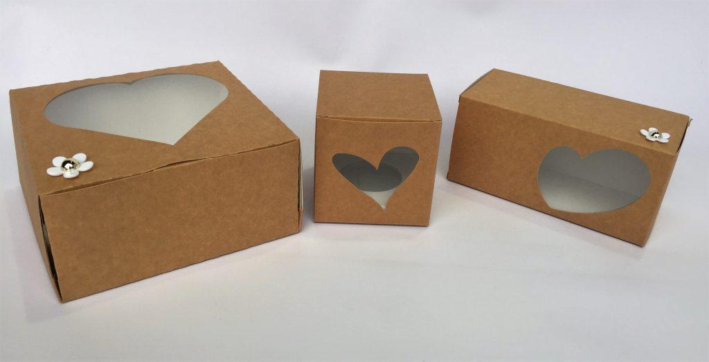 Heart Cake Box, Single CupCake Box & Swiss Roll