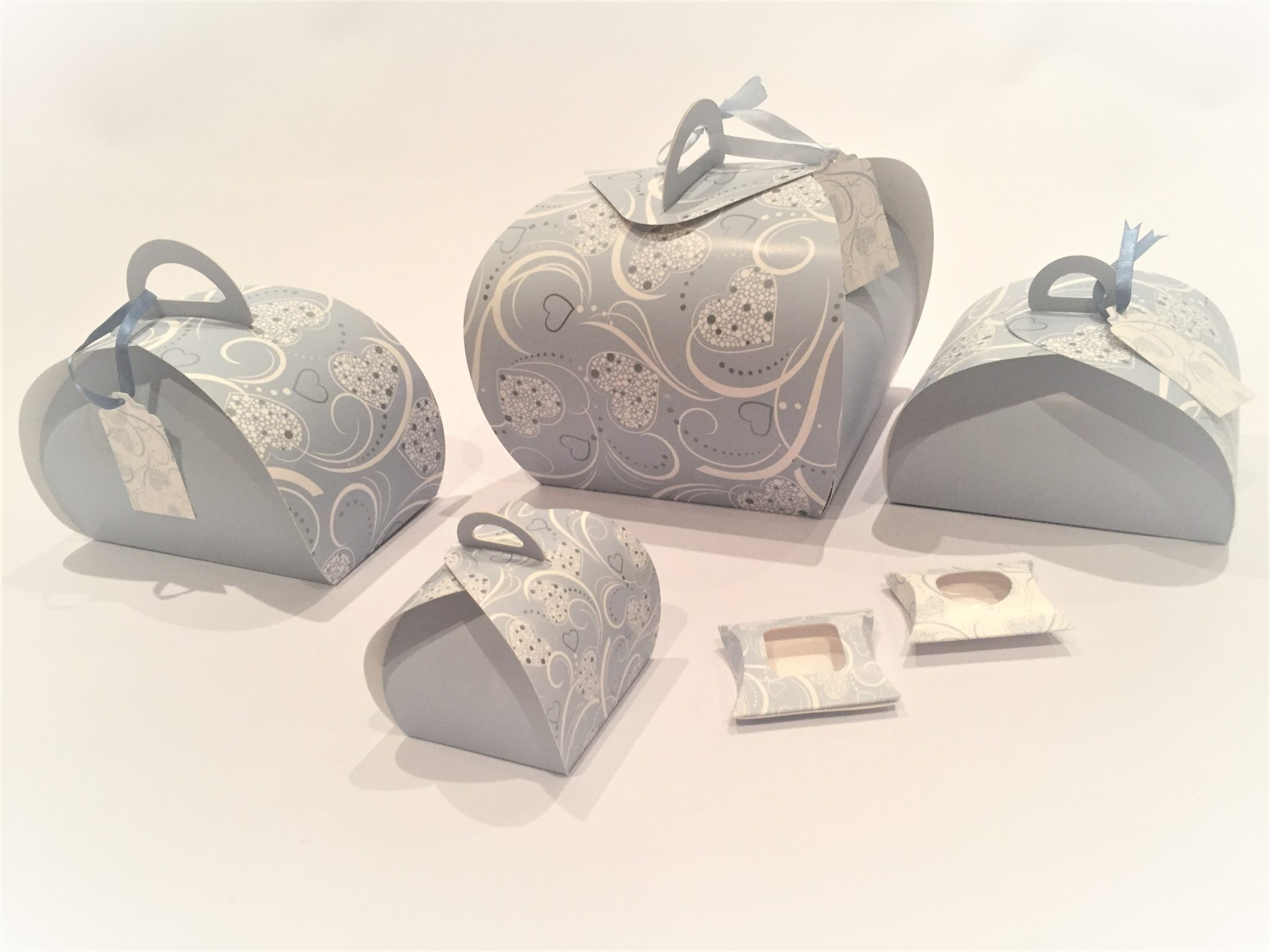 Blue Amoré Patisserie Box & Pillow Pack Range