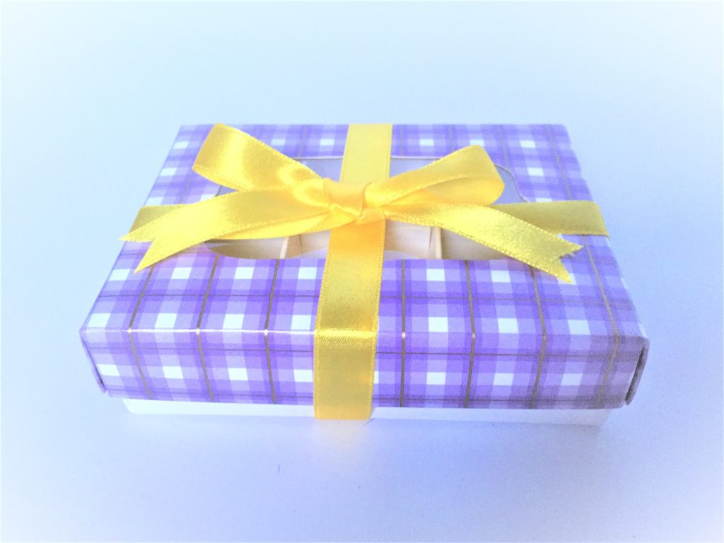 Lilac Tartan Windowed Base & Lid Box also available without window