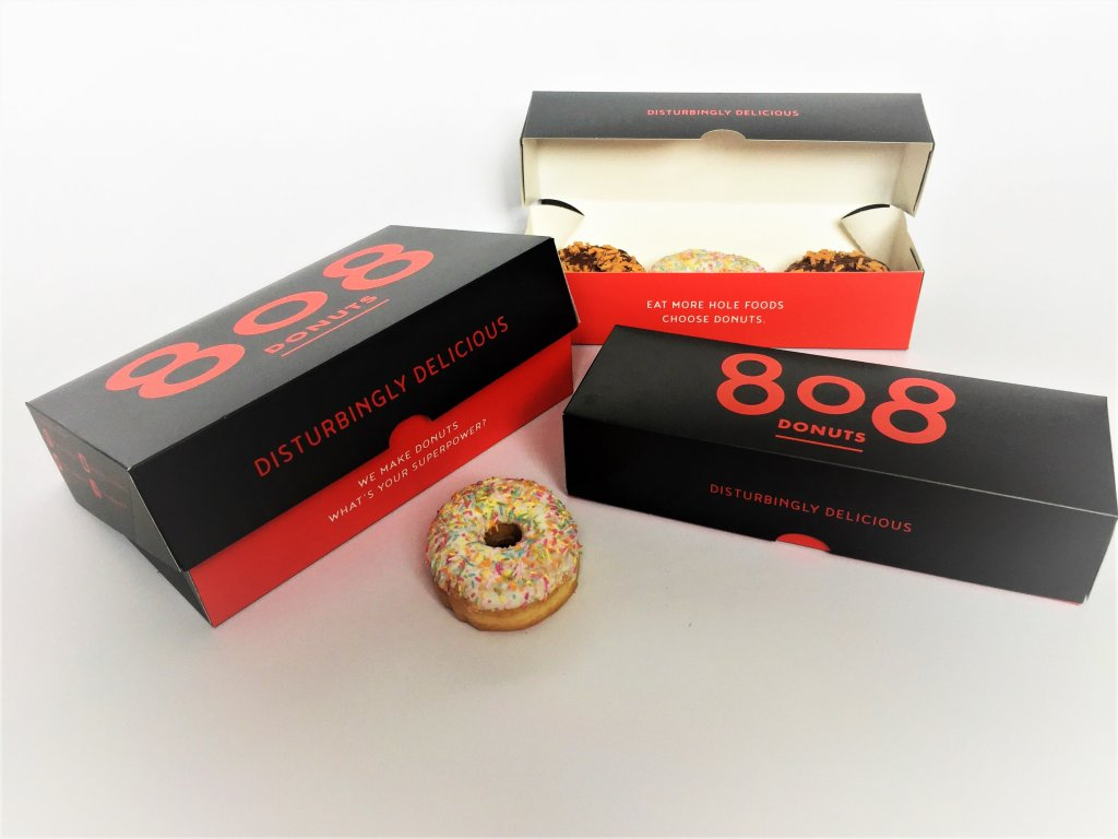 Bespoke Print 3 & 6 Pack Donut Boxes
