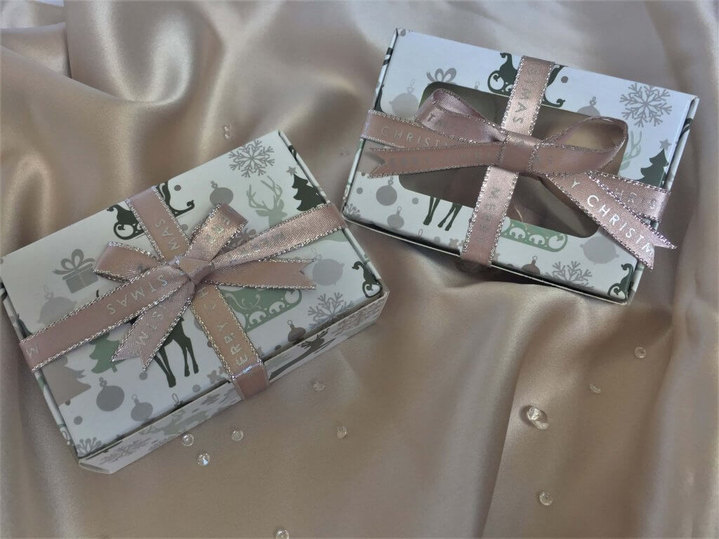 Christmas Print Boxes Windowed or Non-Windowed with hinge lid