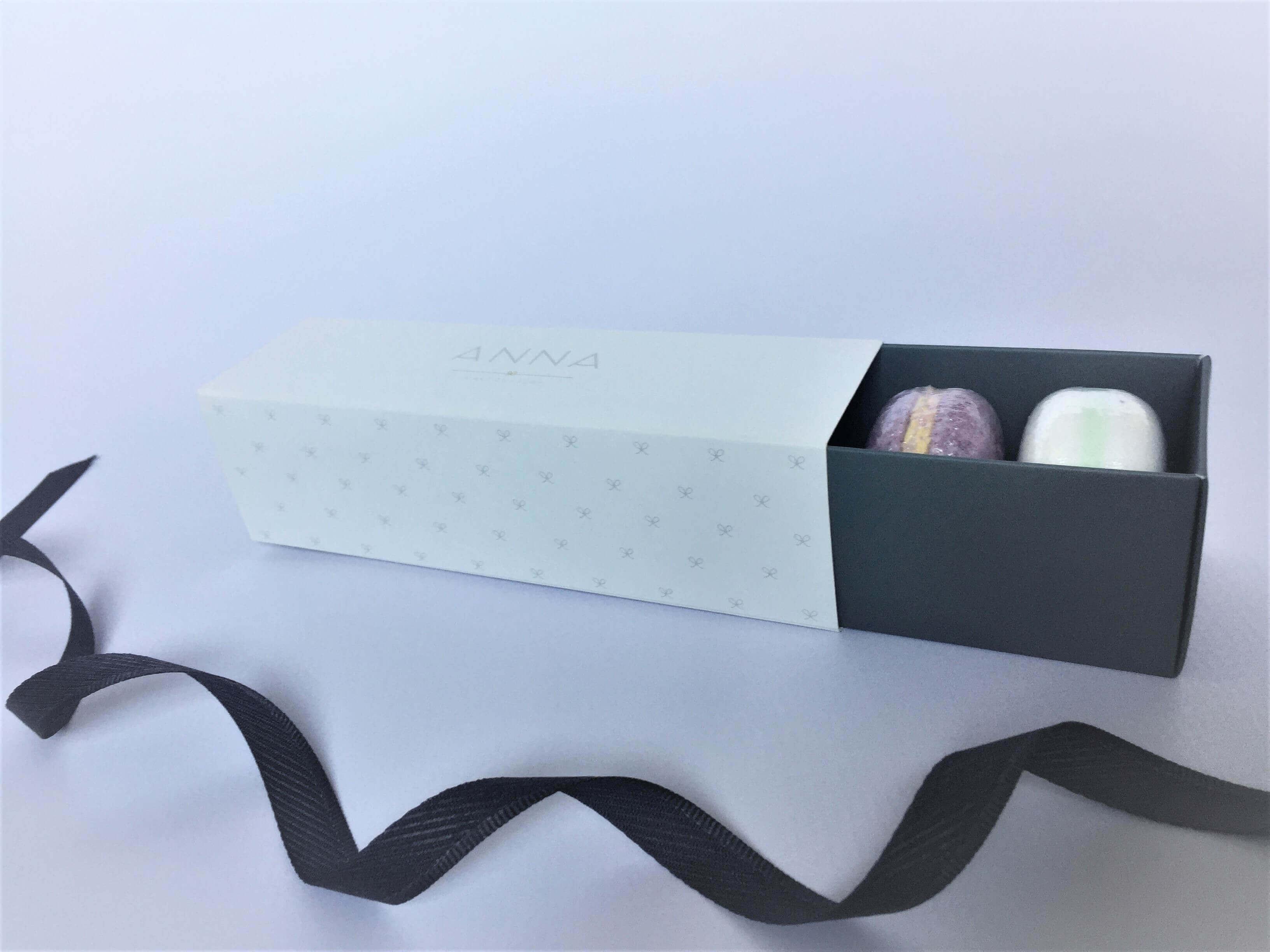 Bespoke Printed 6 Pk Macaron Box