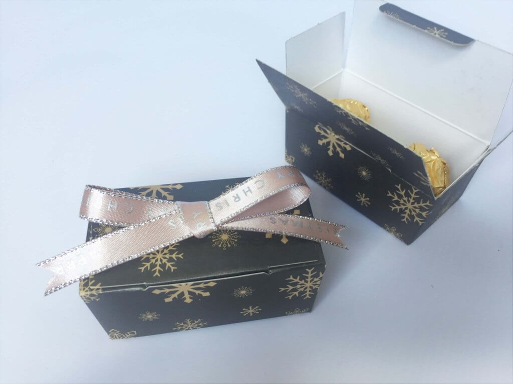 Christmas Print Truffle Box