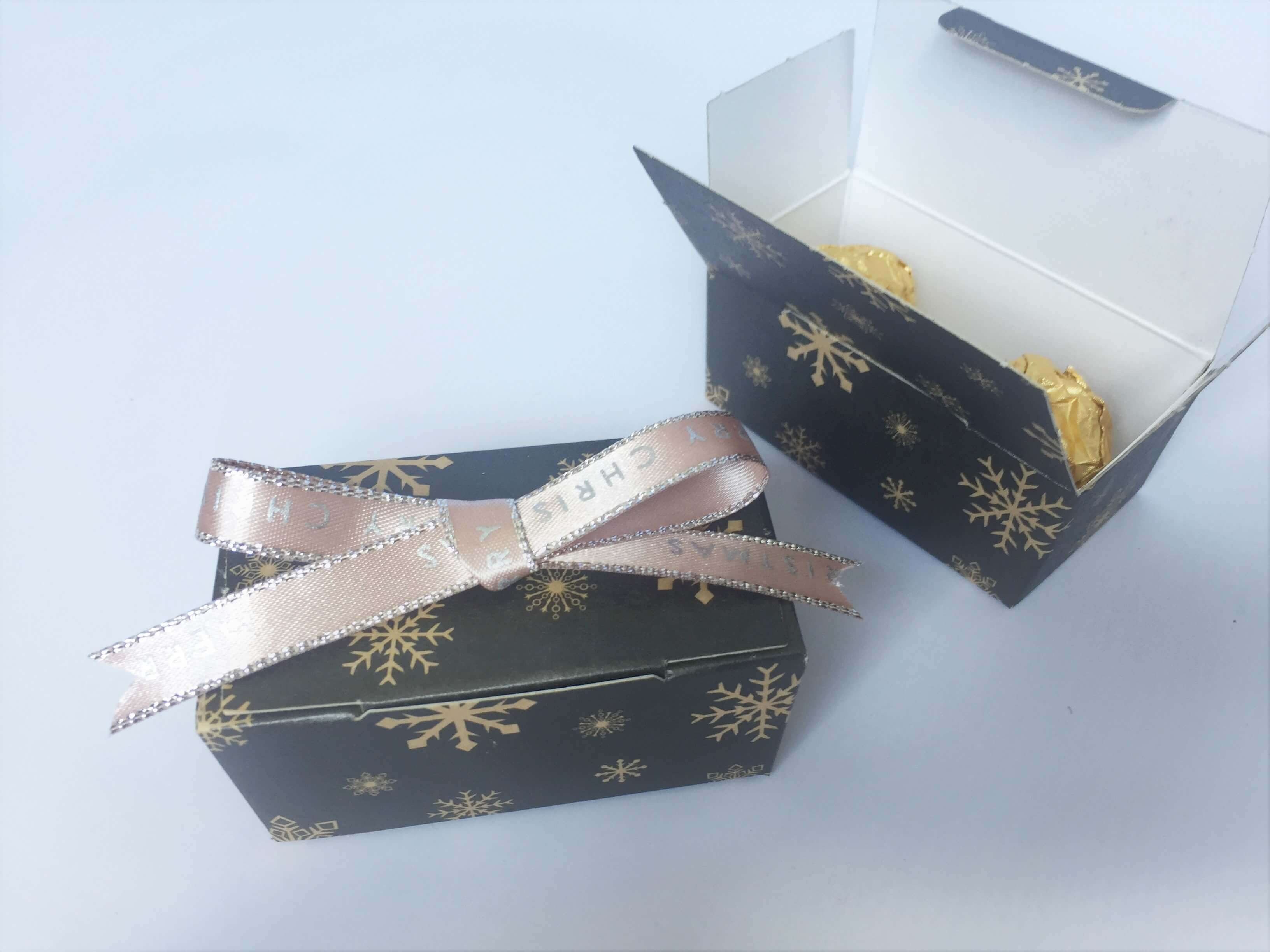 Christmas Print 2 Pack Truffle Box