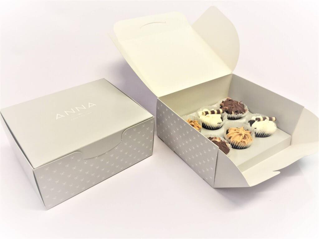 Bespoke Print Cup Cake Box (6 Pack Mini's)