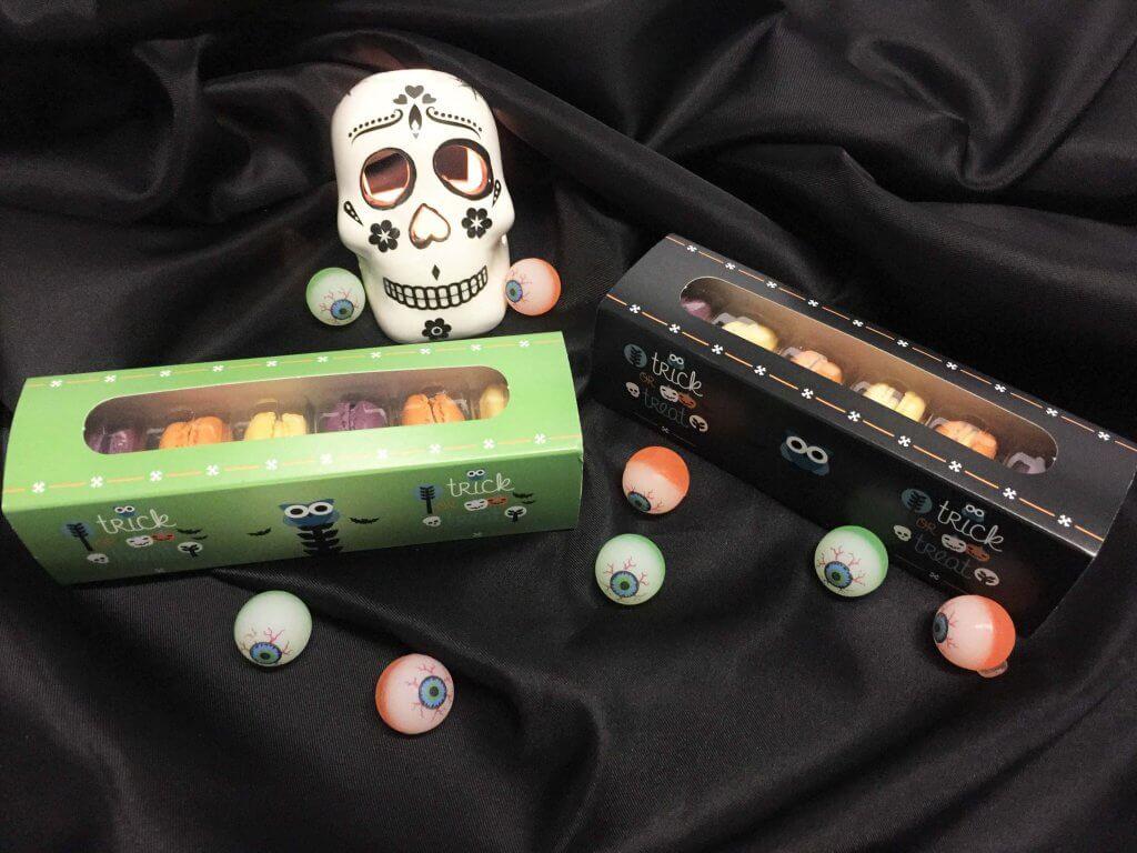 Halloween 6 Pack Macaron Boxes