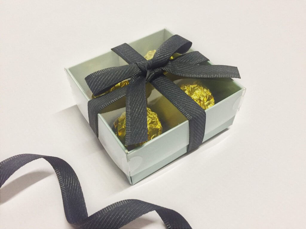 Base & Plastic Lid 4 Pack Truffle/Chocolate Box with Insert