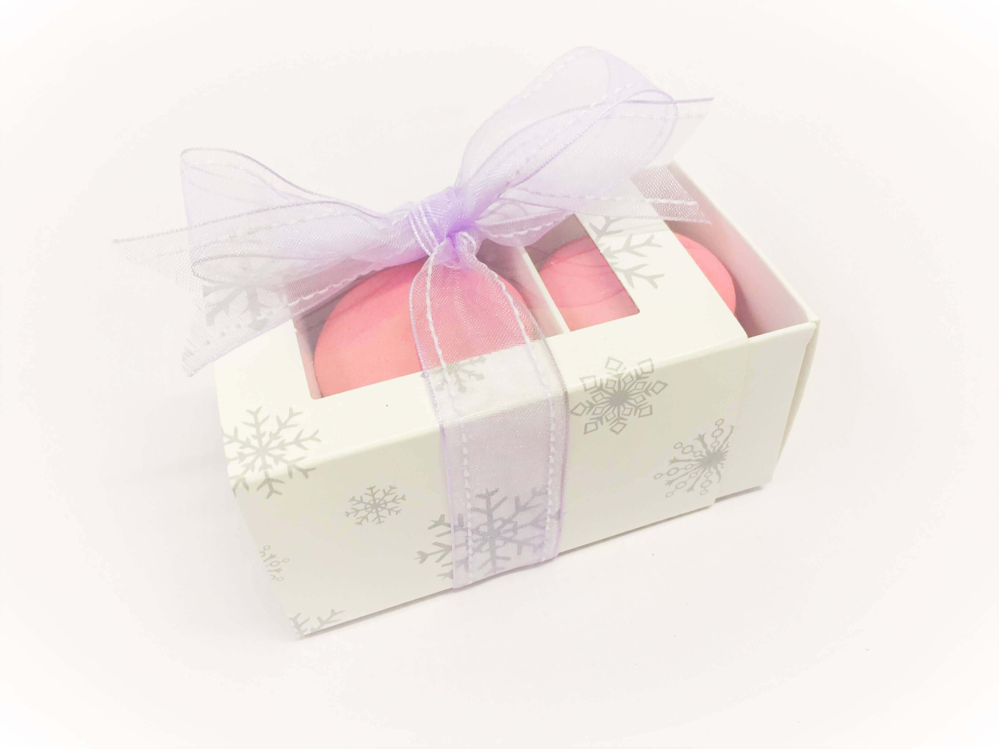 3 Pack Macaron Slider Box with Xmas Print, windowed