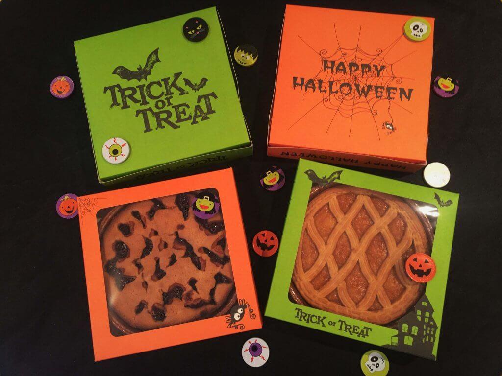 "Halloweeen Pop Up Trick or Treat Tart/Pie/Cookie Boxes 8 x 8 x 1.5"" & 9 x 9 x 2"""