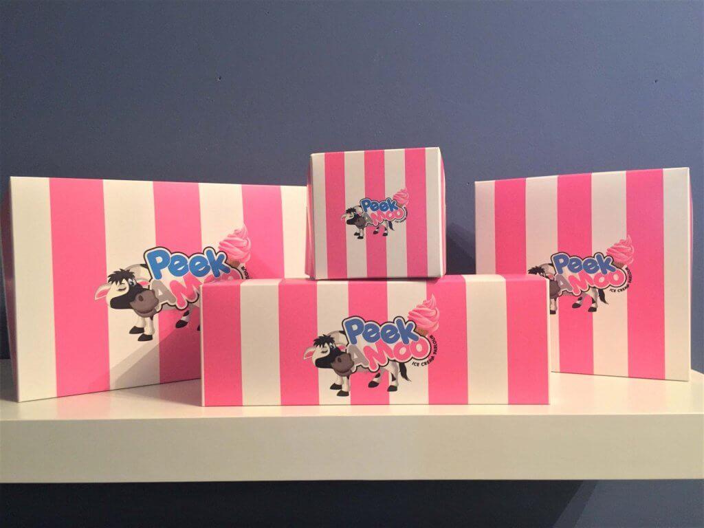 Bespoke Print Donut Boxes, single, 3, 4 & 6 Pack