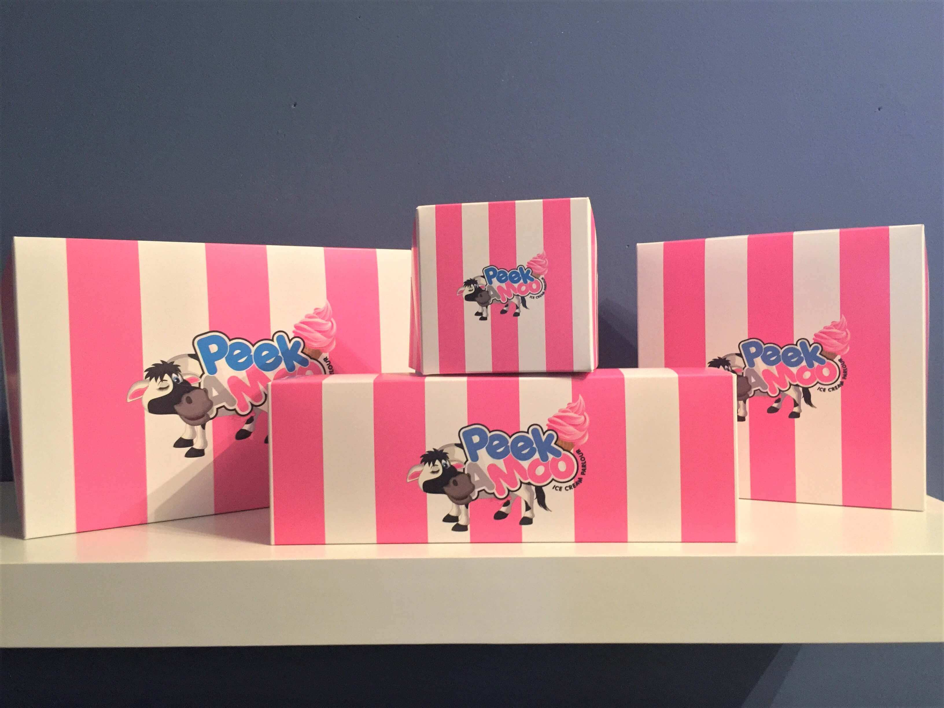 Bespoke Print Donut Boxes, single, 3, 4 & 6 Pack