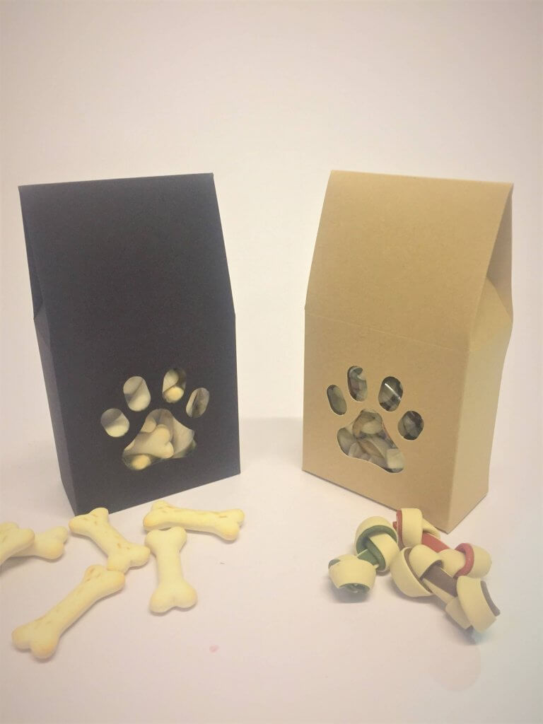 Doggie Treat Boxes in Kraft or Black Board