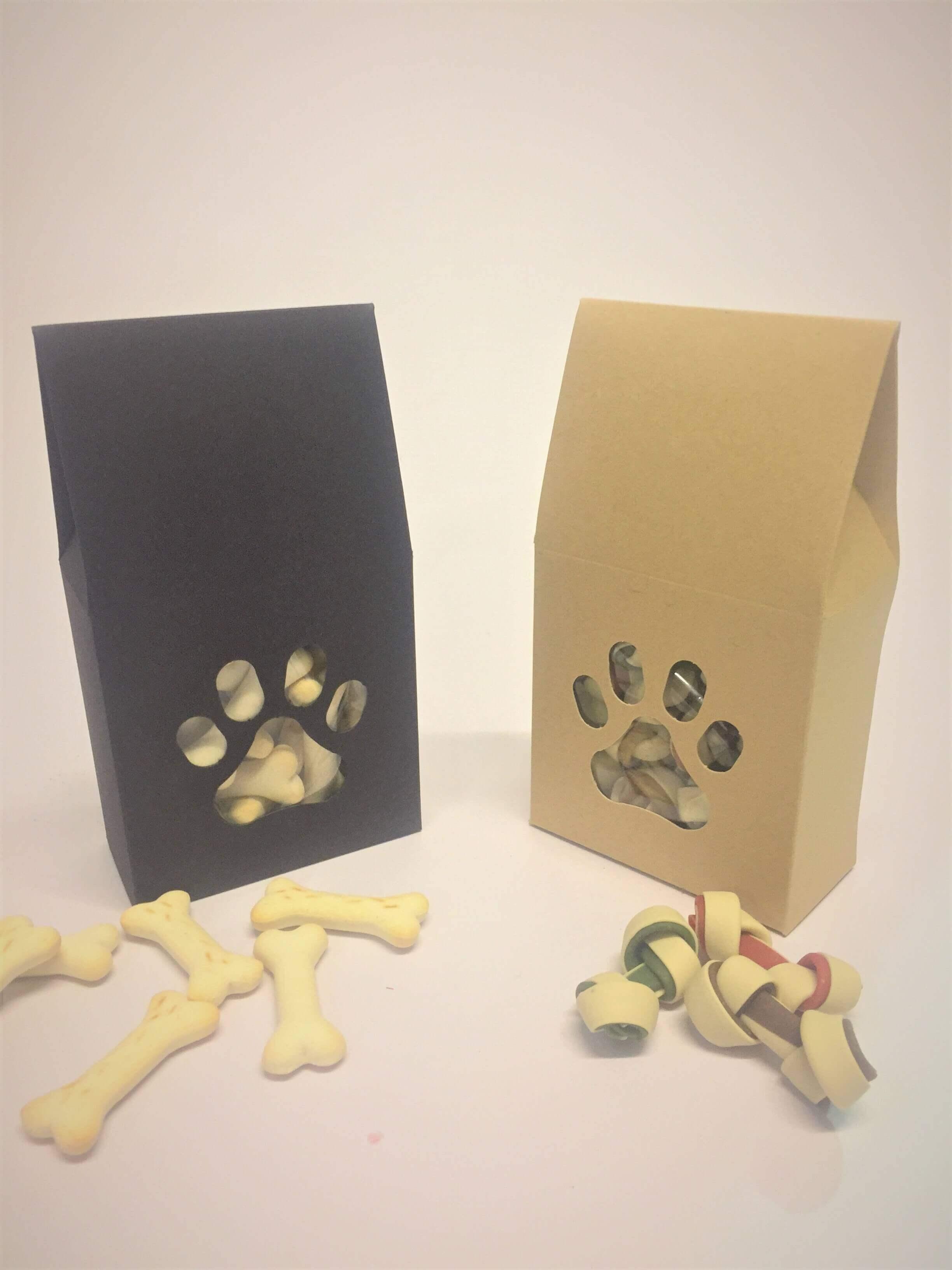 Doggie Treat Boxes in Kraft or Black Board