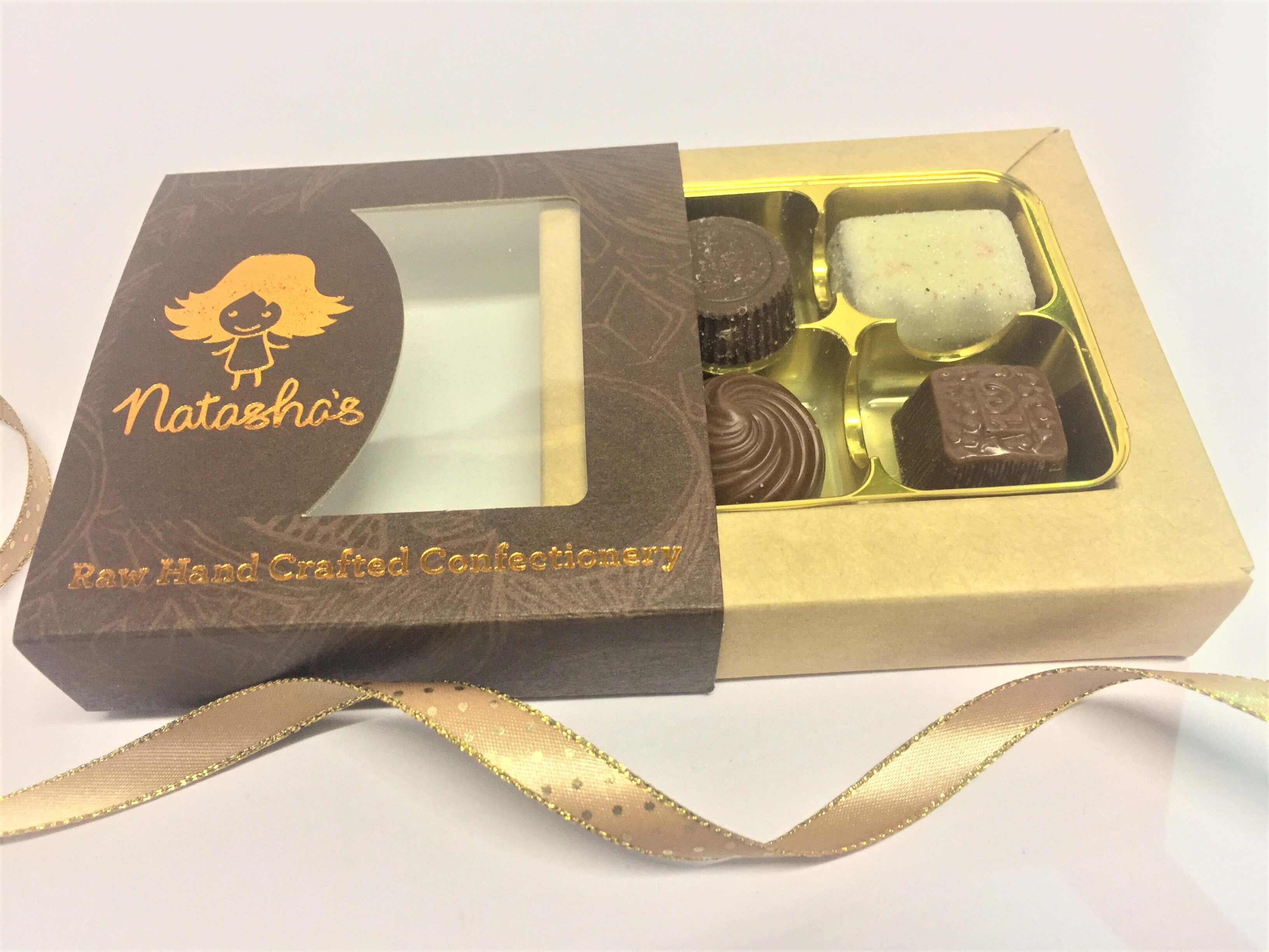 Bespoke Printed Chocolate Truffle Slider Boxes 4 Packs