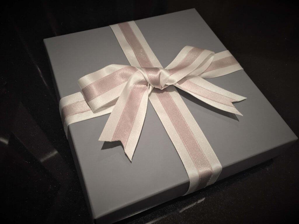 Grey Print Base & Lid Chocolate Box