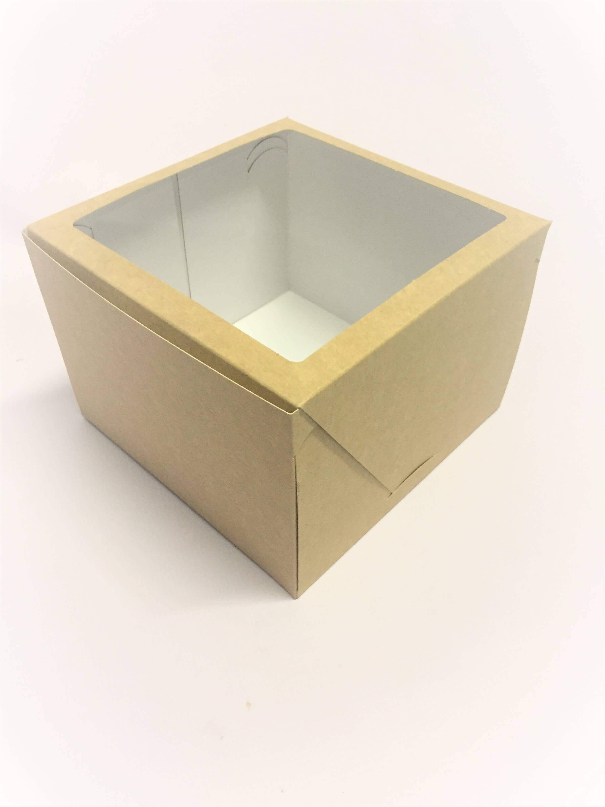 Tall Kraft Windowed Cake Box  200 x 200 x 140mm