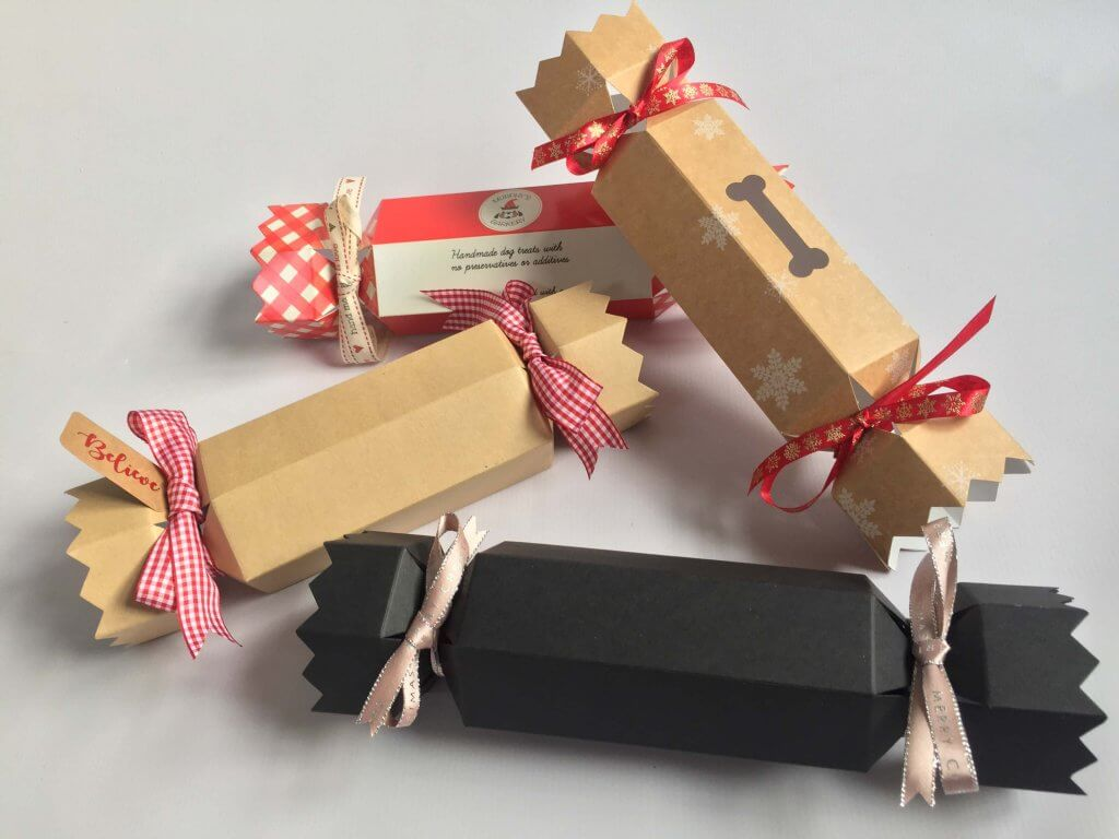 Cracker Boxes available with or without themed window, various colours available, Outer Box to hold