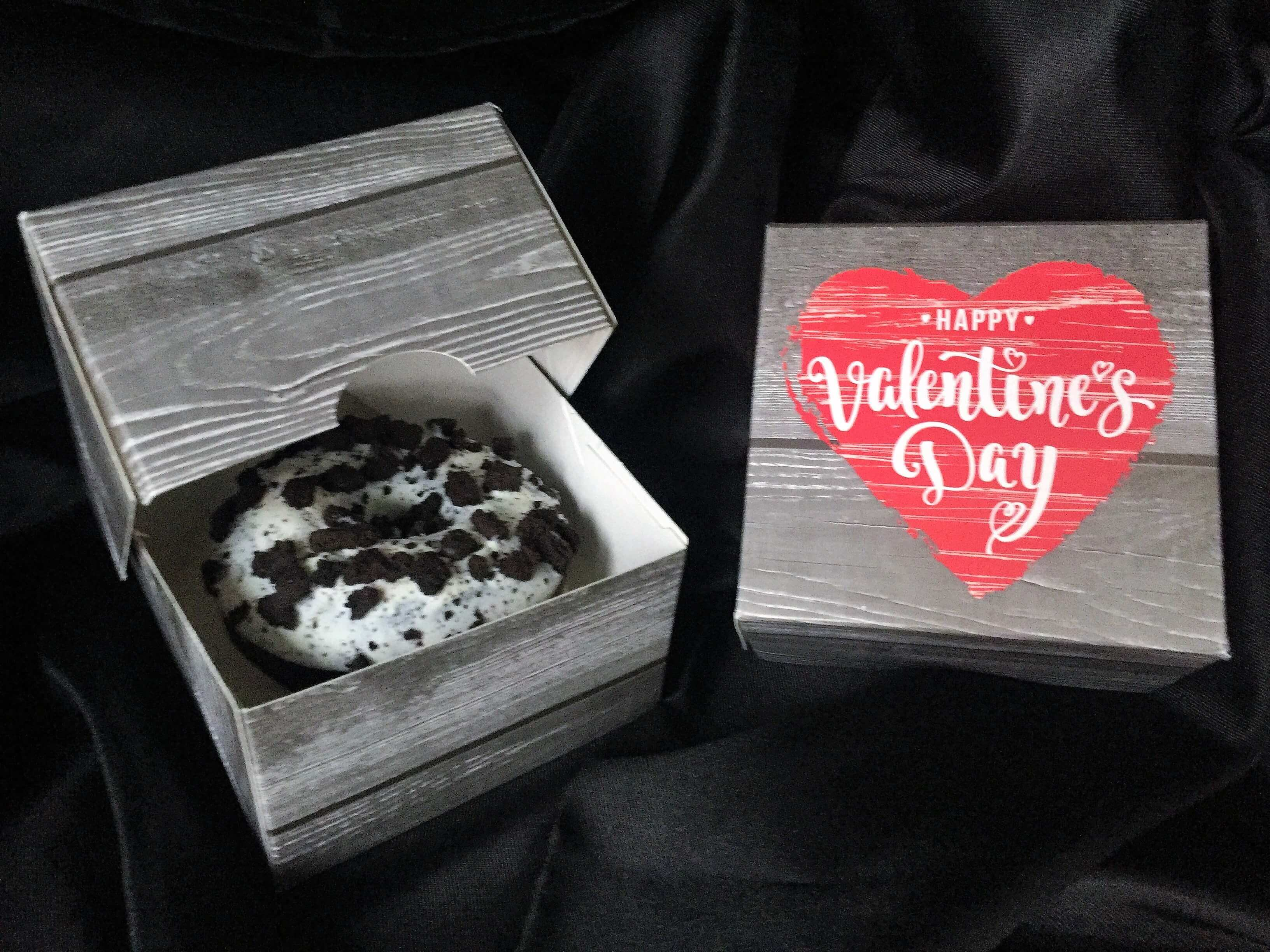 Happy Valentines Day Printed Single Donut Box