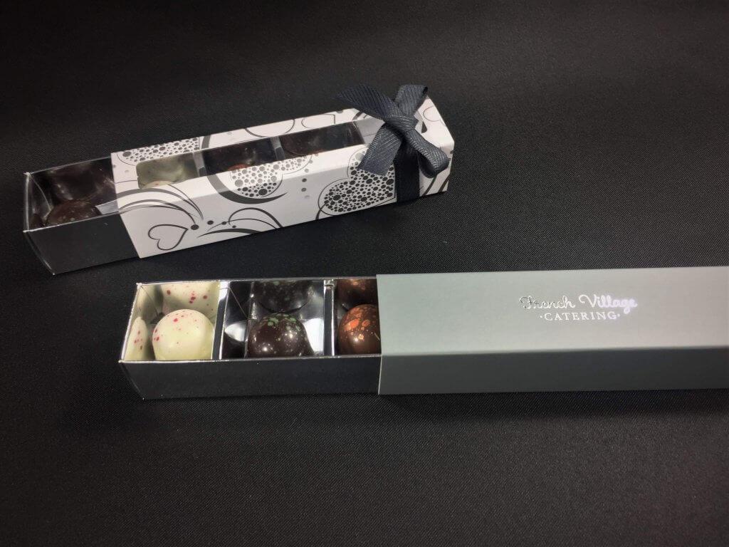 4 Pack Long Truffle Box with generic & bespoke printing