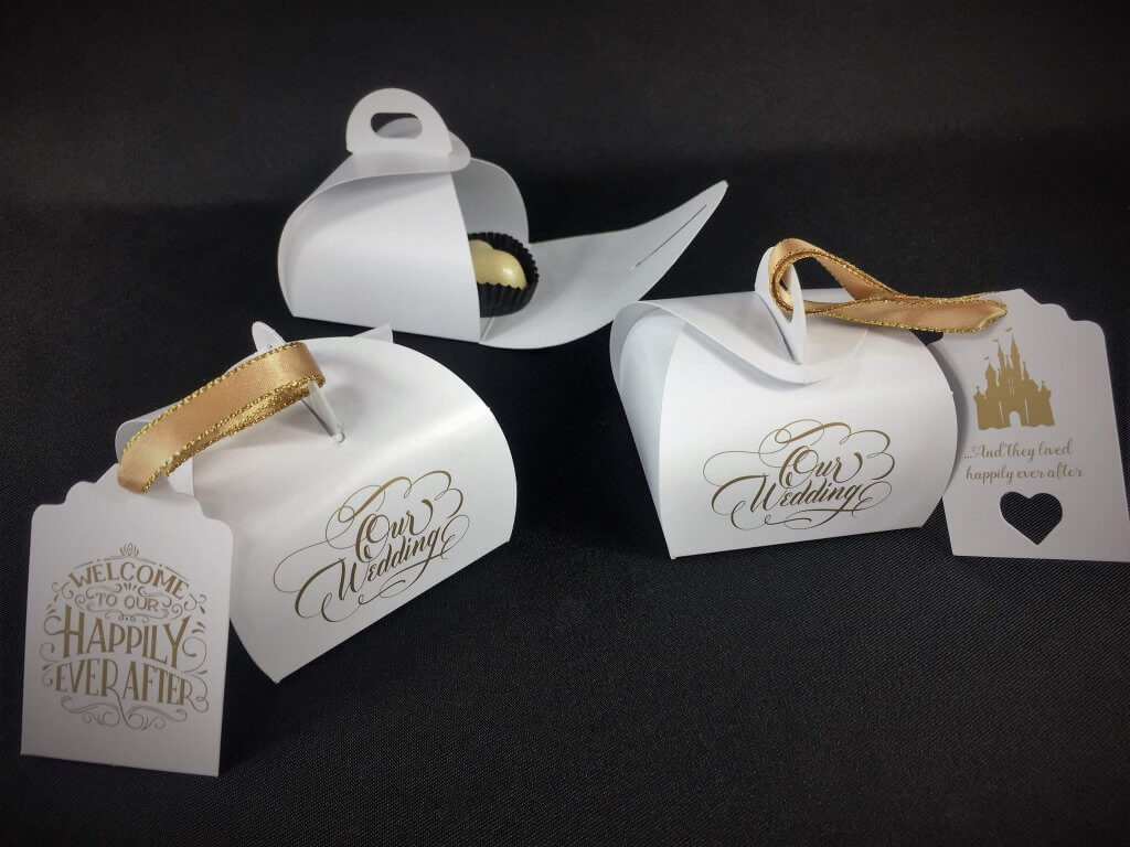 Our Wedding Patisserie Boxes, various tags available