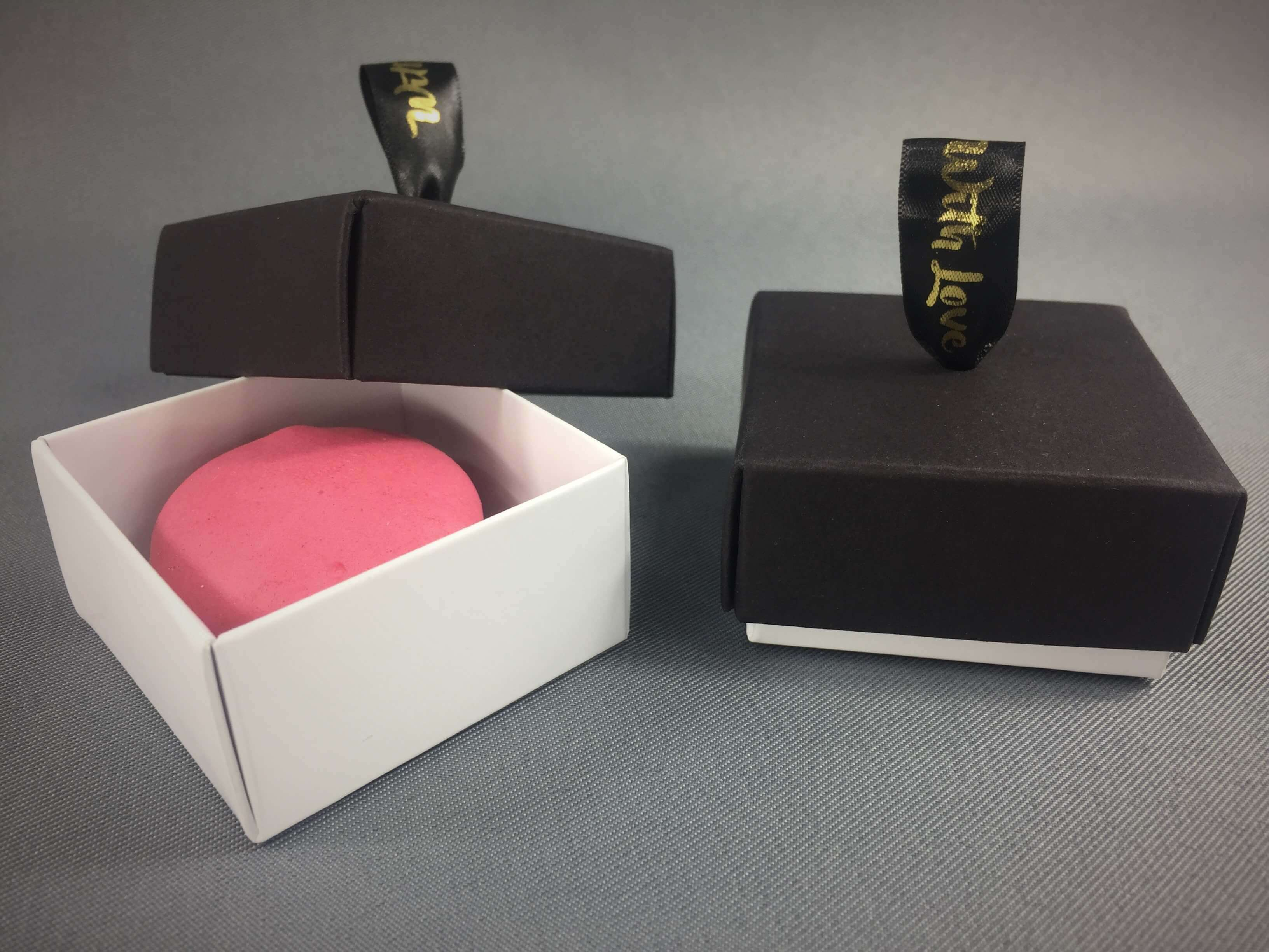 Base & Lid Favour Box with ribbon hole lid, various colours available