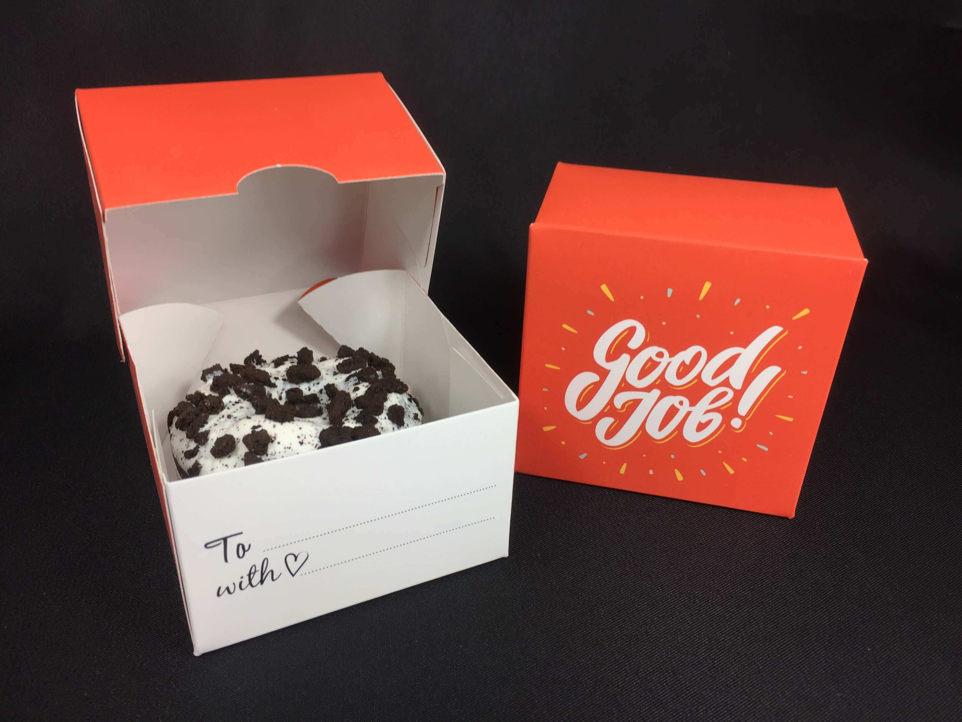 """Good Job"" Print Single Donut Box"